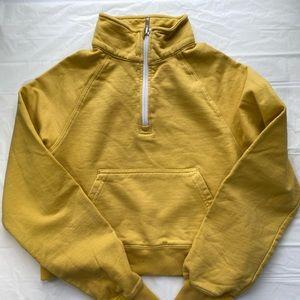 Brandy Melville 3/4 zip cropped sweatshirt